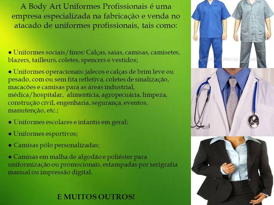 A Body Art Uniformes Profissionais é uma empresa especializada na fabricação e venda no atacado de uniformes profissionais, tais como: