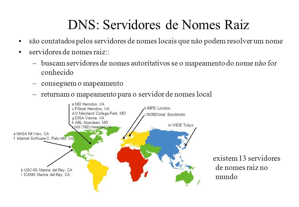DNS: Servidores de Nomes Raiz
