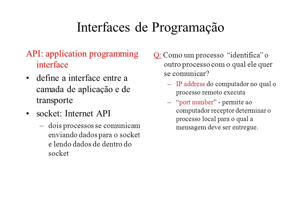 Interfaces de Programação