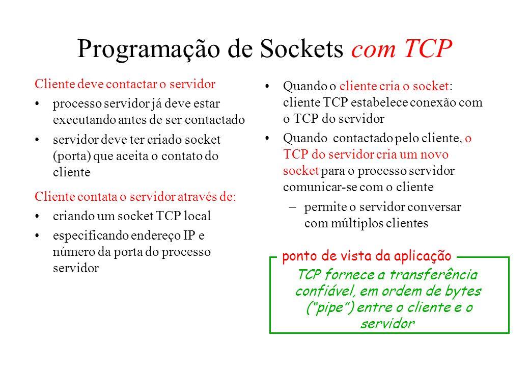 Programação de Sockets com TCP