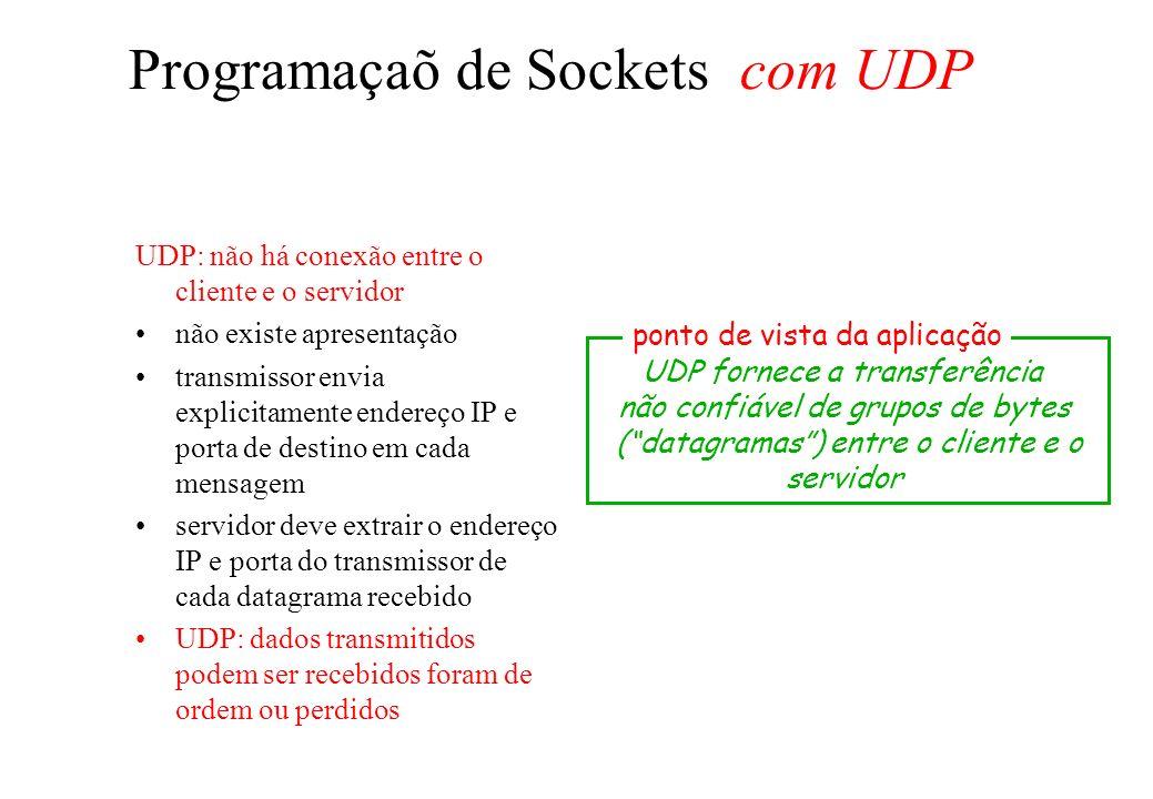 Programaçaõ de Sockets com UDP