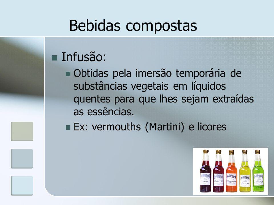 Bebidas compostas Infusão: