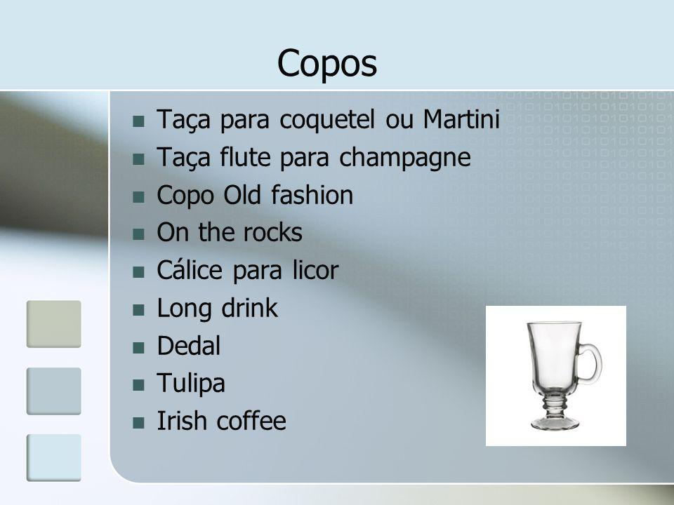 Copos Taça para coquetel ou Martini Taça flute para champagne
