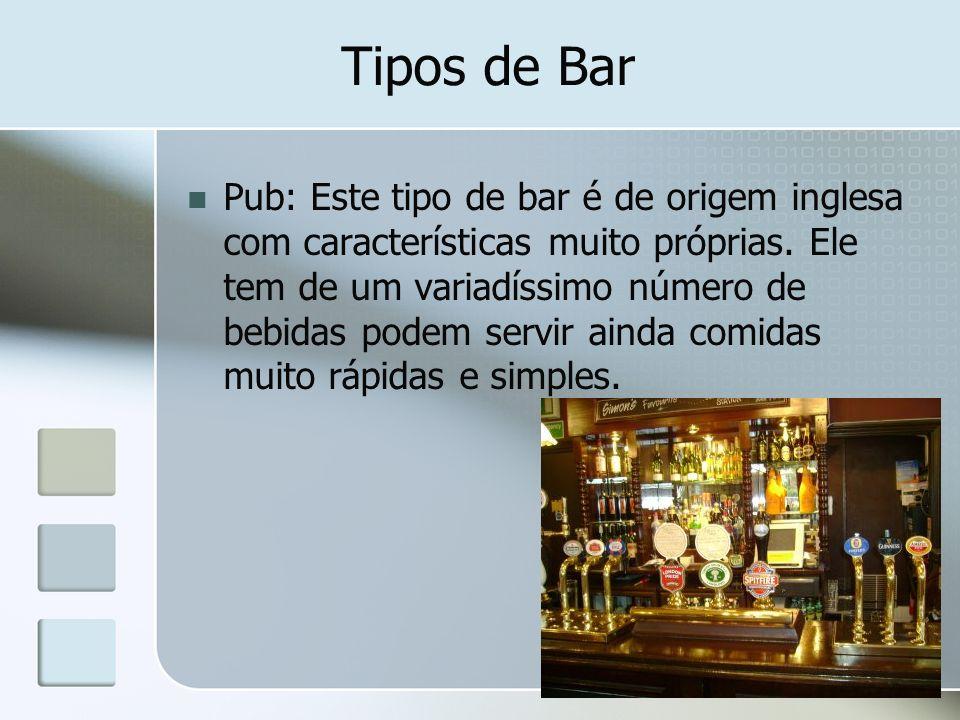 Tipos de Bar