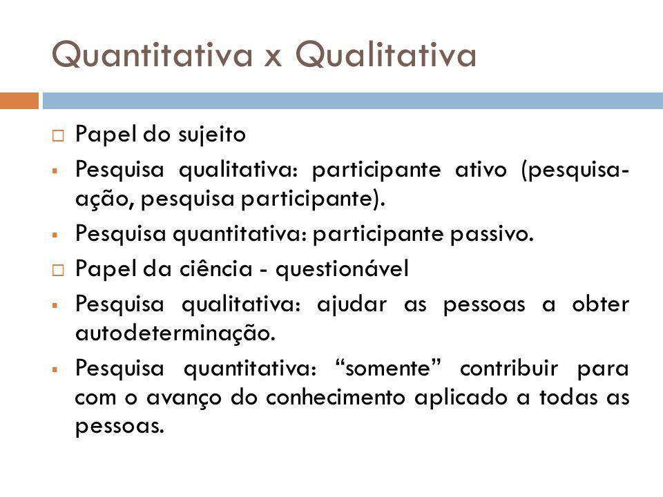 Quantitativa x Qualitativa