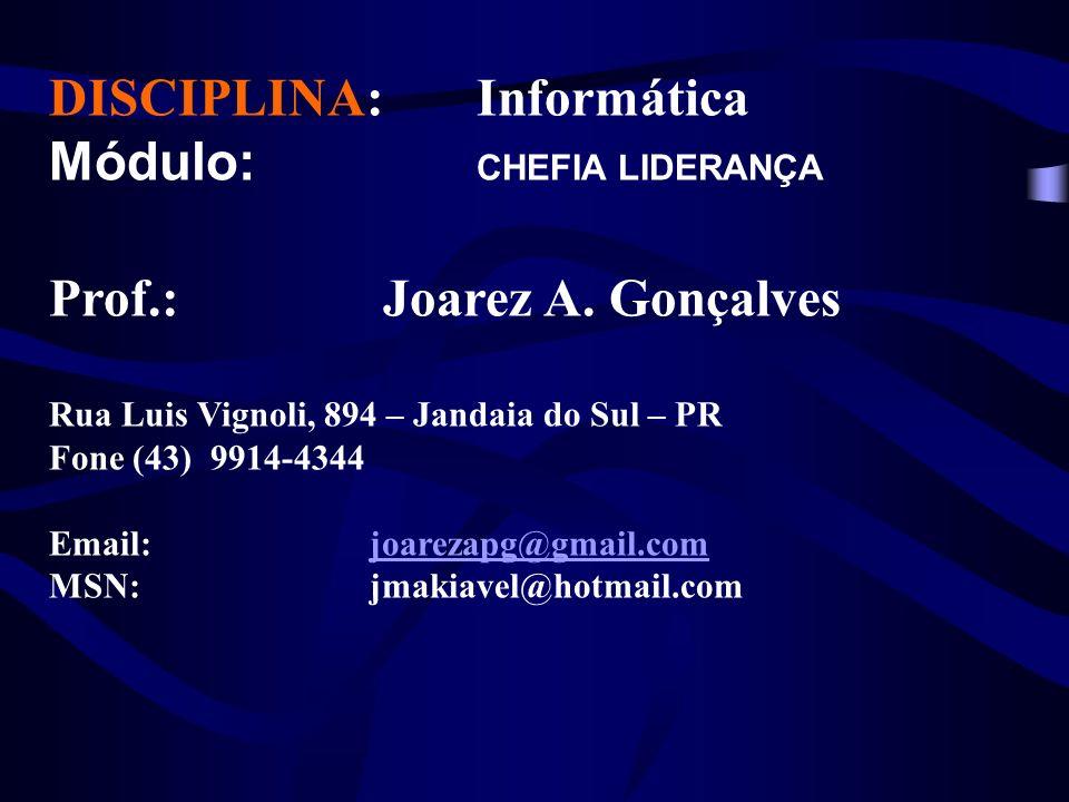 DISCIPLINA: Informática Módulo: CHEFIA LIDERANÇA