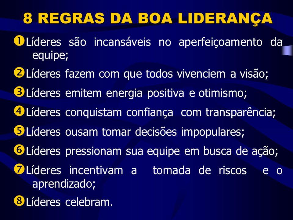 8 REGRAS DA BOA LIDERANÇA