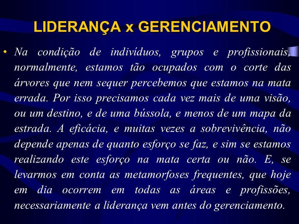 LIDERANÇA x GERENCIAMENTO