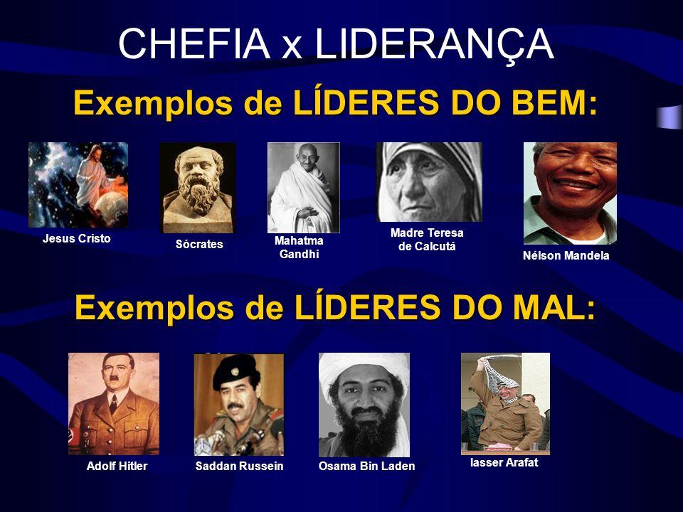 CHEFIA x LIDERANÇA Exemplos de LÍDERES DO BEM: