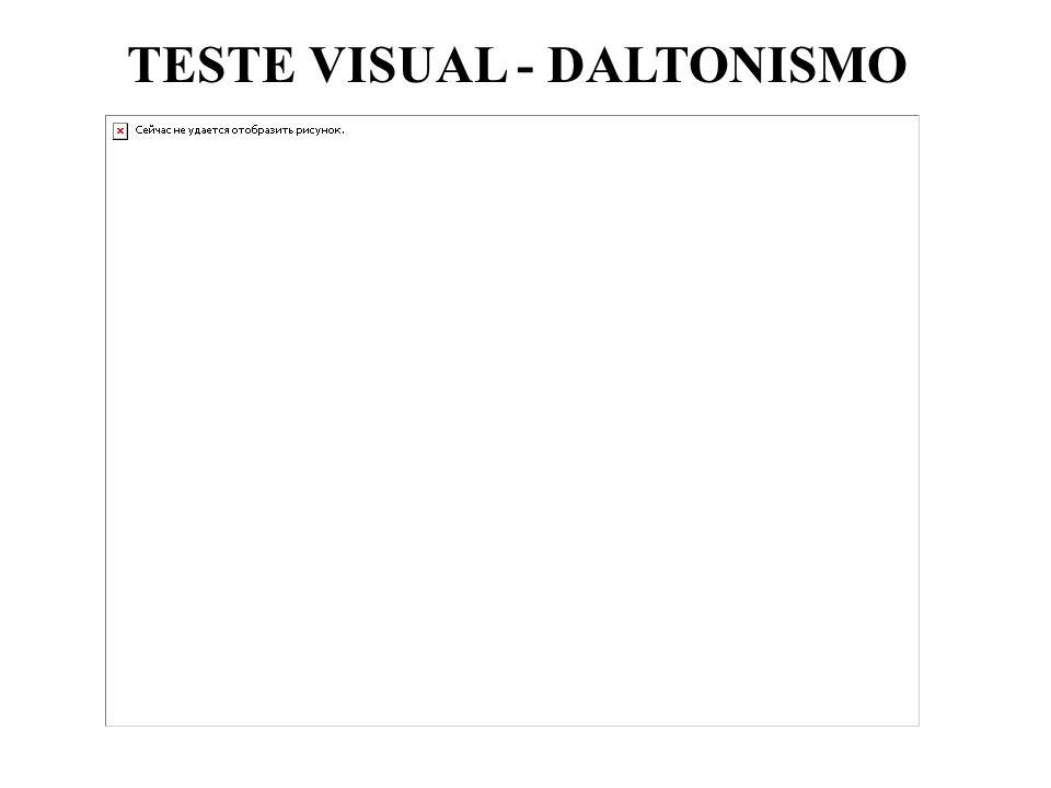 TESTE VISUAL - DALTONISMO