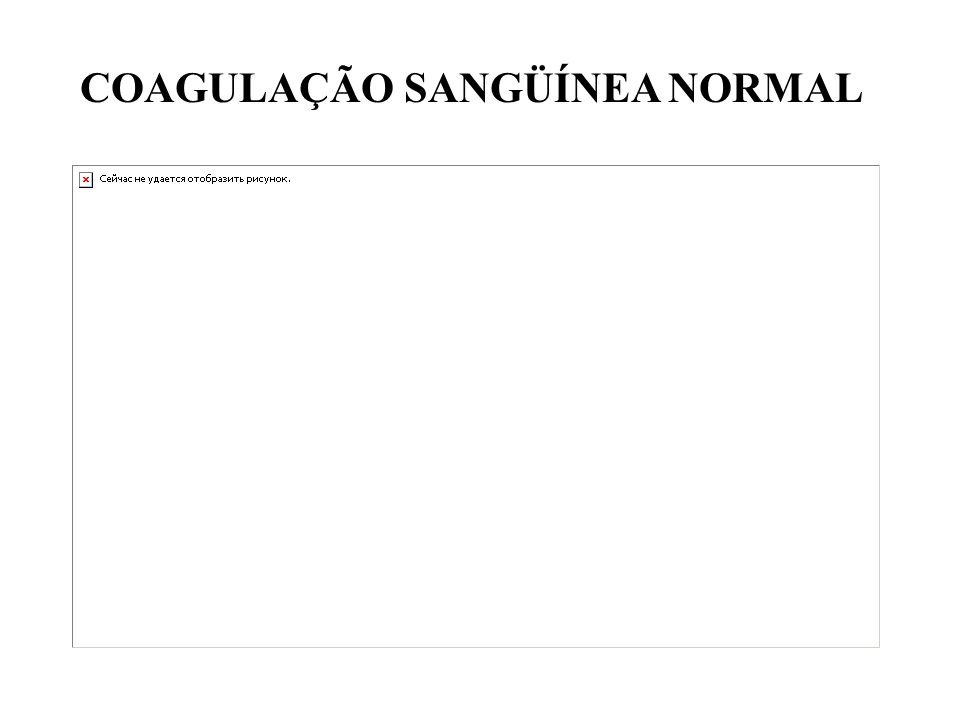 COAGULAÇÃO SANGÜÍNEA NORMAL