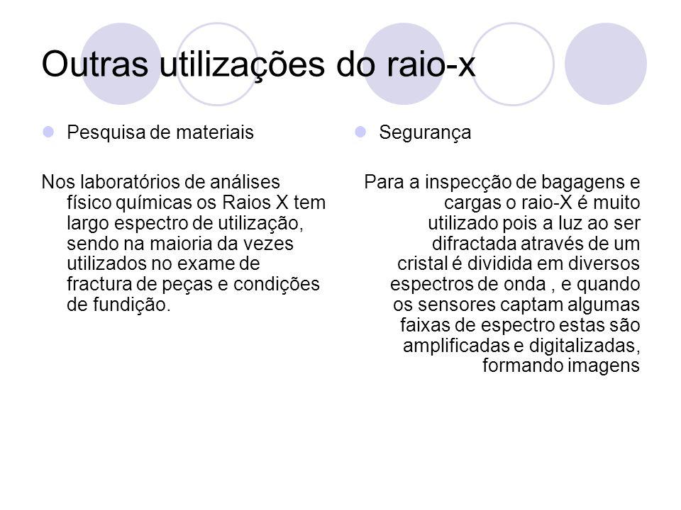 Outras utilizações do raio-x