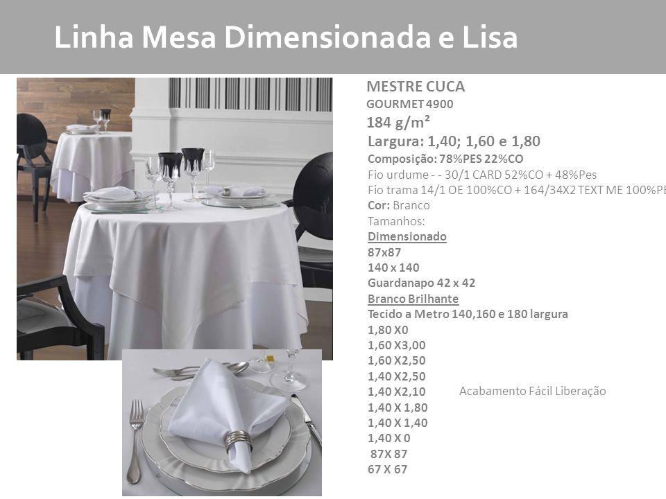 Linha Mesa Dimensionada e Lisa