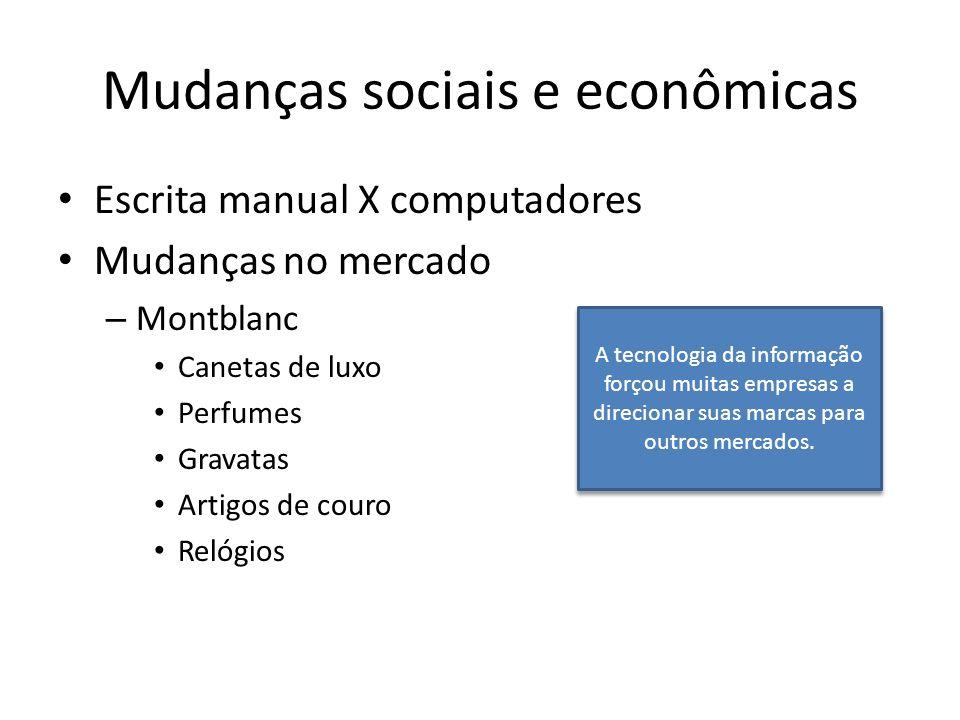 Mudanças sociais e econômicas