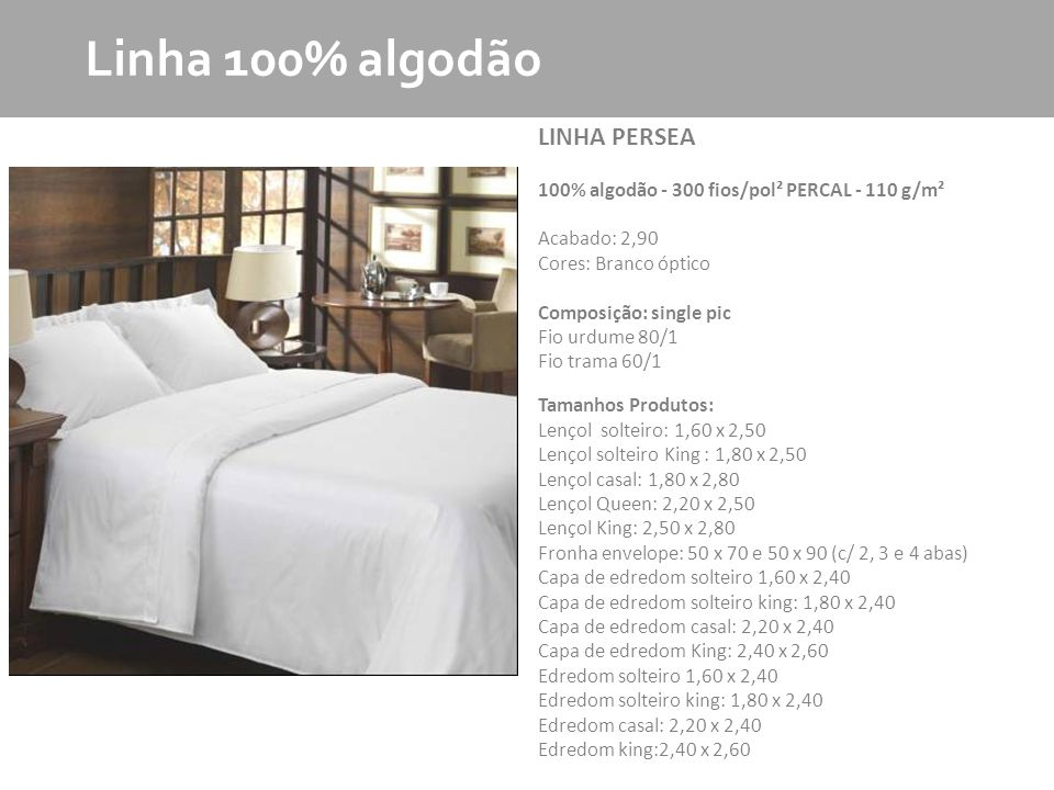 Linha 100% algodão LINHA PERSEA