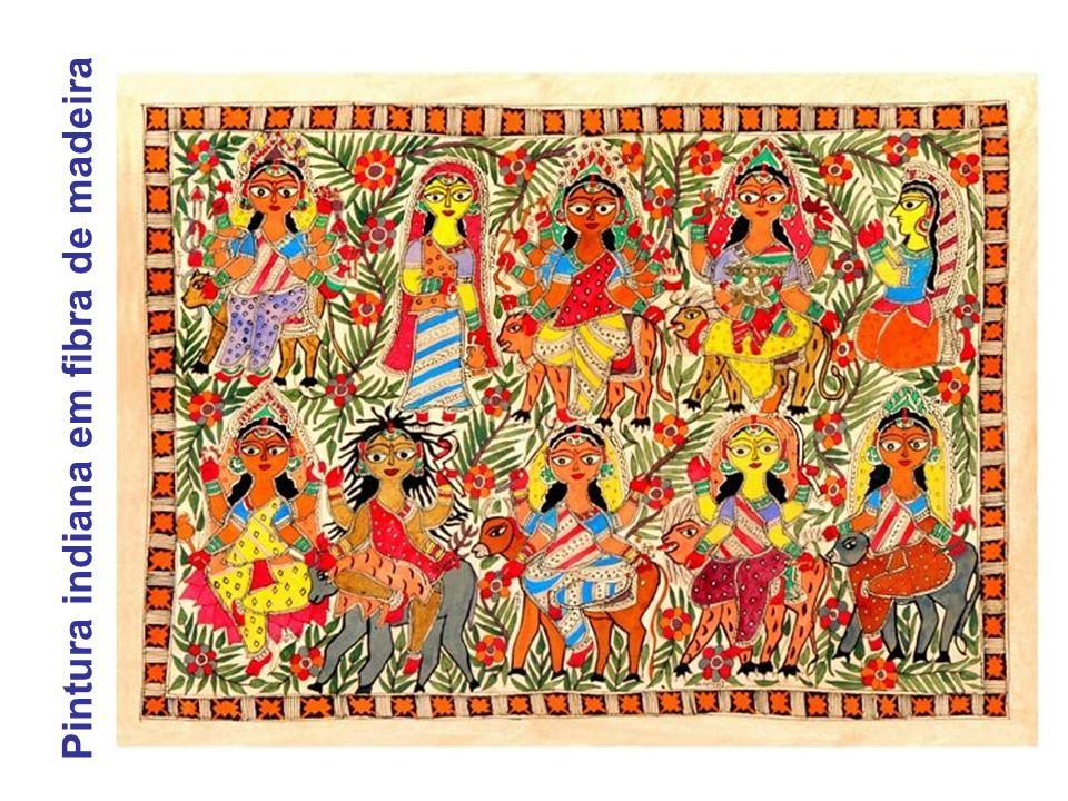 Pintura indiana em fibra de madeira