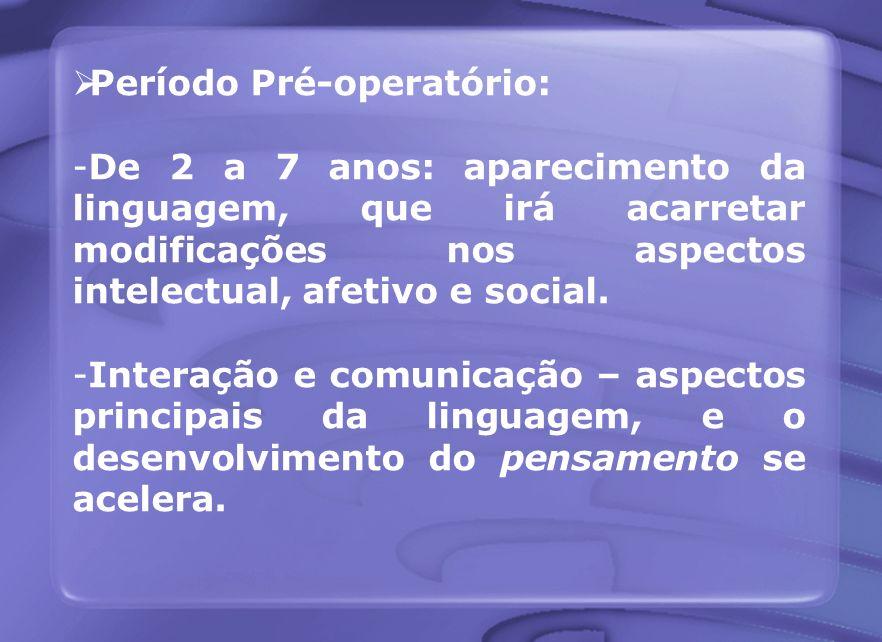 Período Pré-operatório: