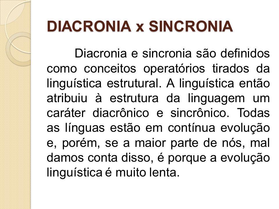 DIACRONIA x SINCRONIA