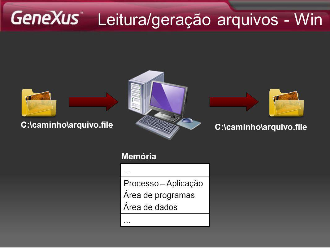 Leitura/geração arquivos - Win