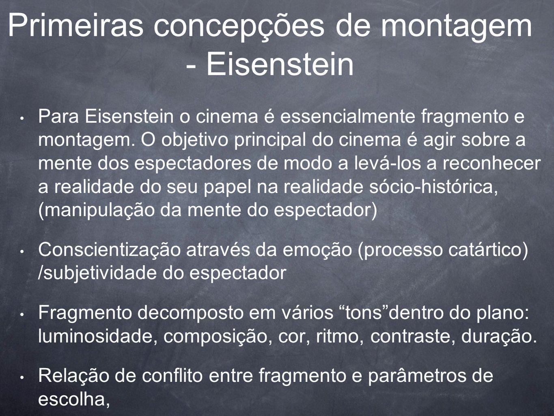 Primeiras concepções de montagem - Eisenstein