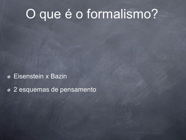 O que é o formalismo Eisenstein x Bazin 2 esquemas de pensamento