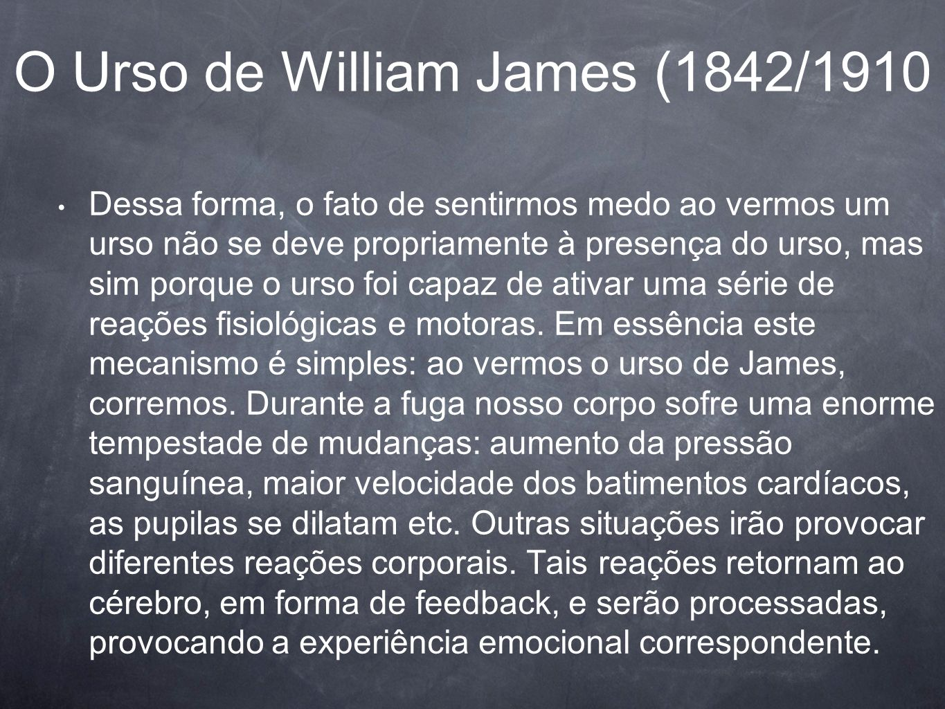 O Urso de William James (1842/1910