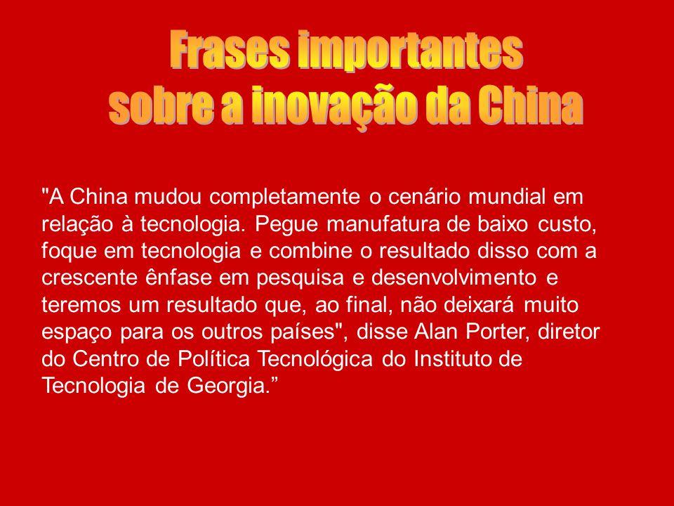 sobre a inovação da China