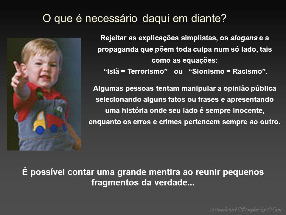 Islã = Terrorismo ou Sionismo = Racismo .