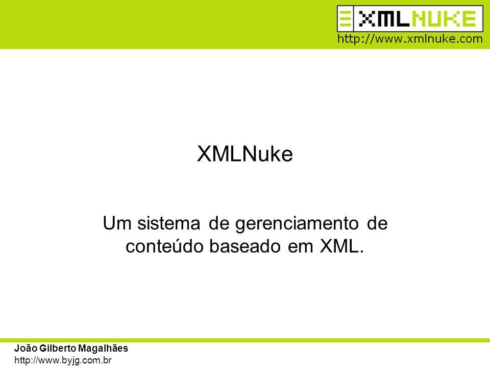 Um sistema de gerenciamento de conteúdo baseado em XML.