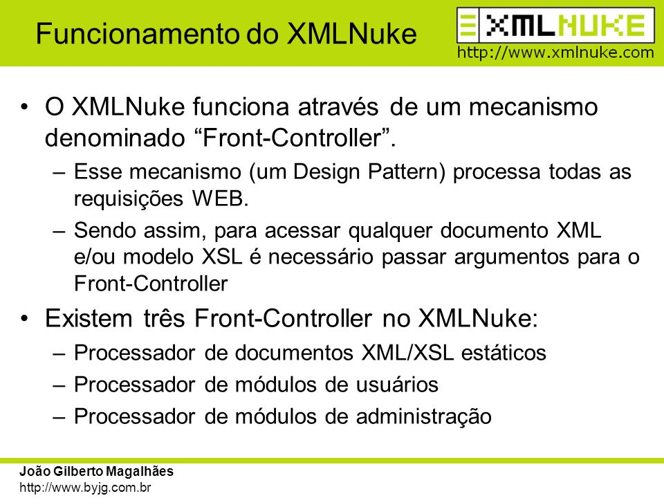 Funcionamento do XMLNuke