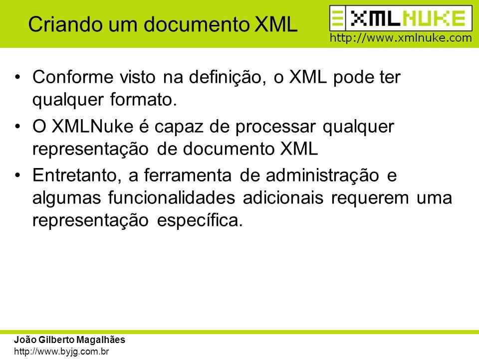 Criando um documento XML