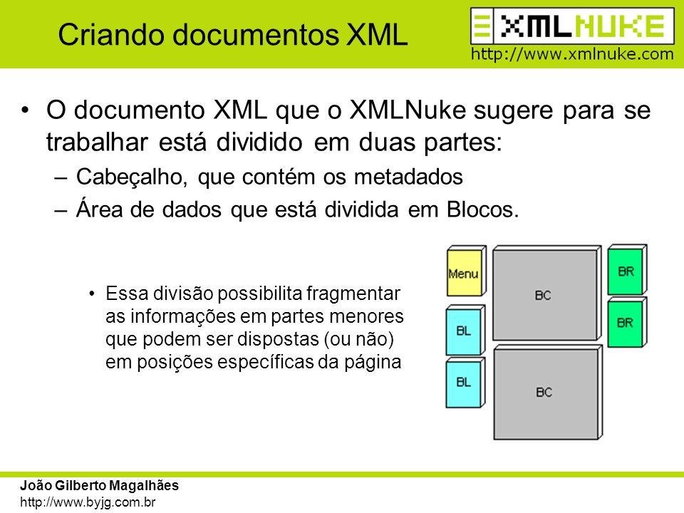 Criando documentos XML