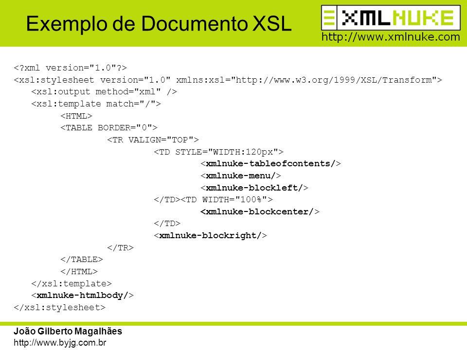 Exemplo de Documento XSL