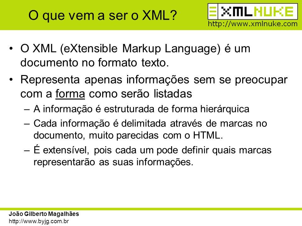 O que vem a ser o XML O XML (eXtensible Markup Language) é um documento no formato texto.