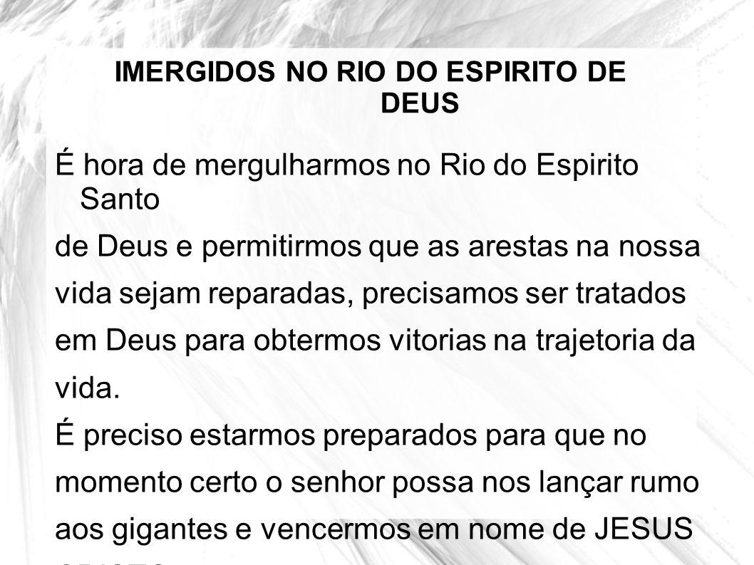 IMERGIDOS NO RIO DO ESPIRITO DE DEUS
