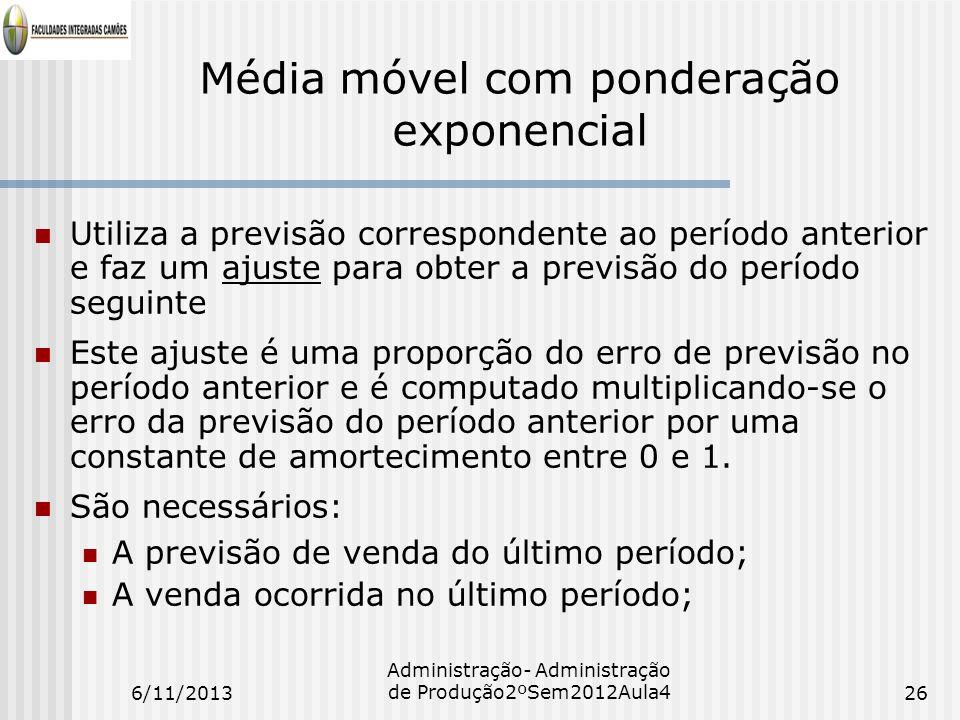 Média móvel com ponderação exponencial