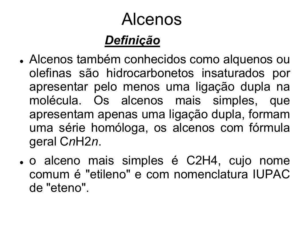 Alcenos Definição.