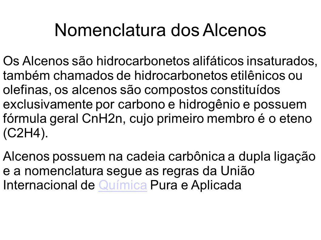 Nomenclatura dos Alcenos