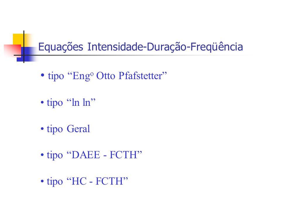 Equações Intensidade-Duração-Freqüência