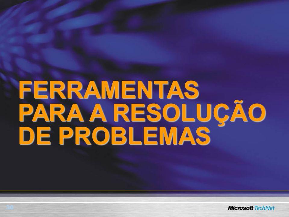 FERRAMENTAS PARA A RESOLUÇÃO DE PROBLEMAS