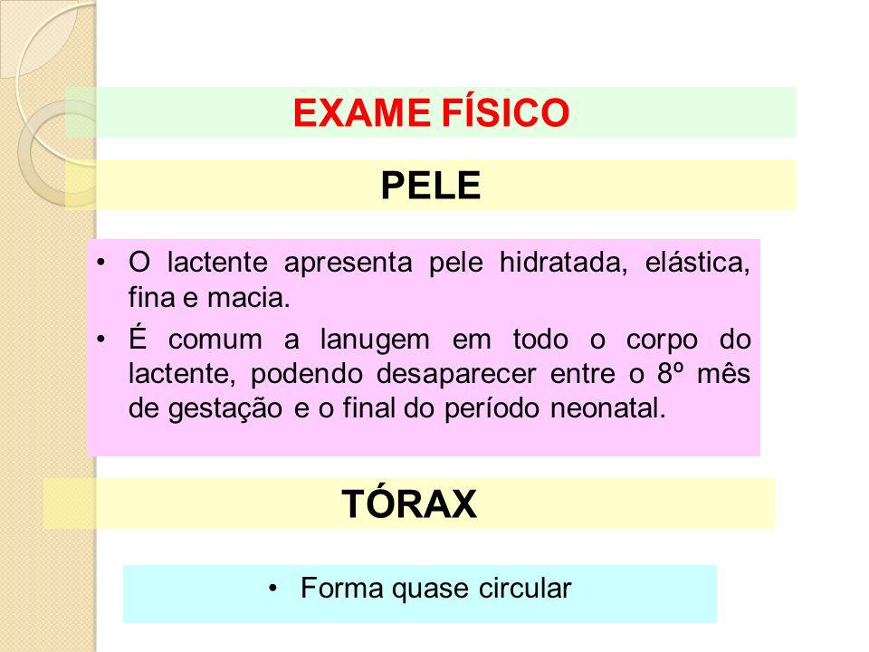 EXAME FÍSICO PELE TÓRAX