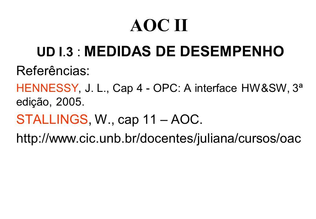 UD I.3 : MEDIDAS DE DESEMPENHO