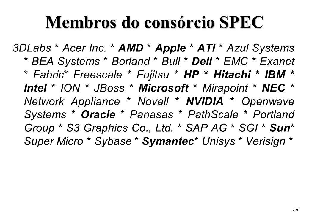 Membros do consórcio SPEC