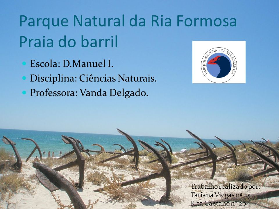 Parque Natural da Ria Formosa Praia do barril