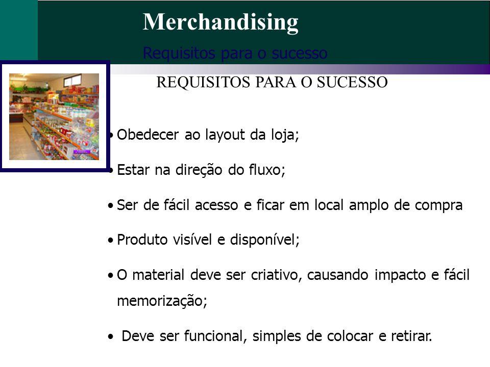 Merchandising Requisitos para o sucesso REQUISITOS PARA O SUCESSO