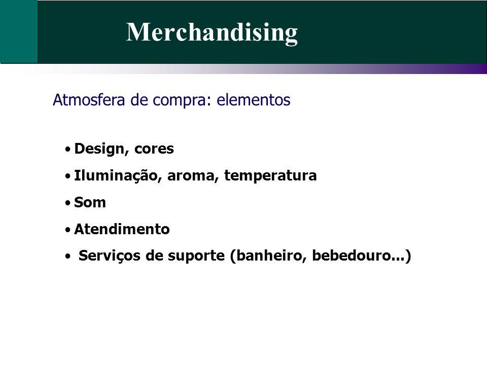 Merchandising Atmosfera de compra: elementos Design, cores