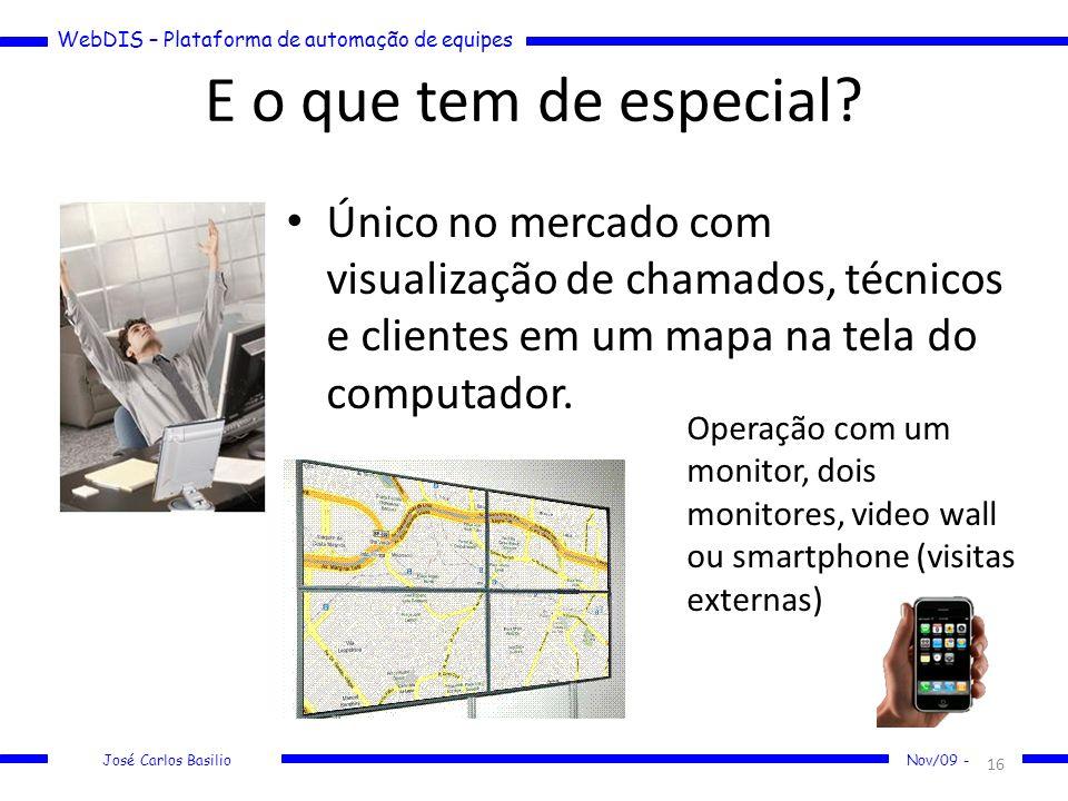 E o que tem de especial Único no mercado com visualização de chamados, técnicos e clientes em um mapa na tela do computador.