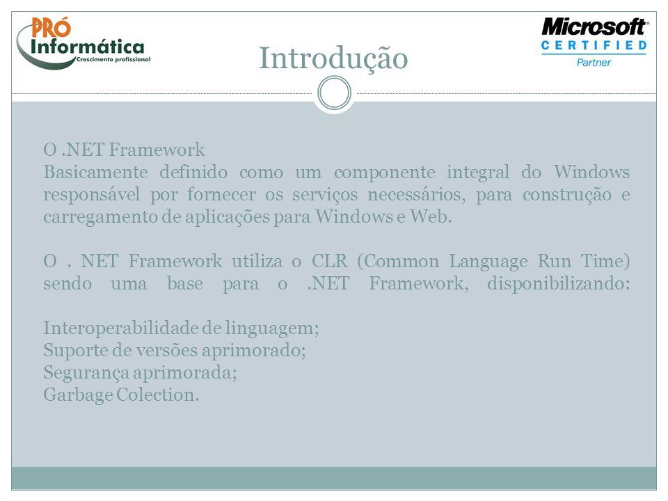 Introdução O .NET Framework