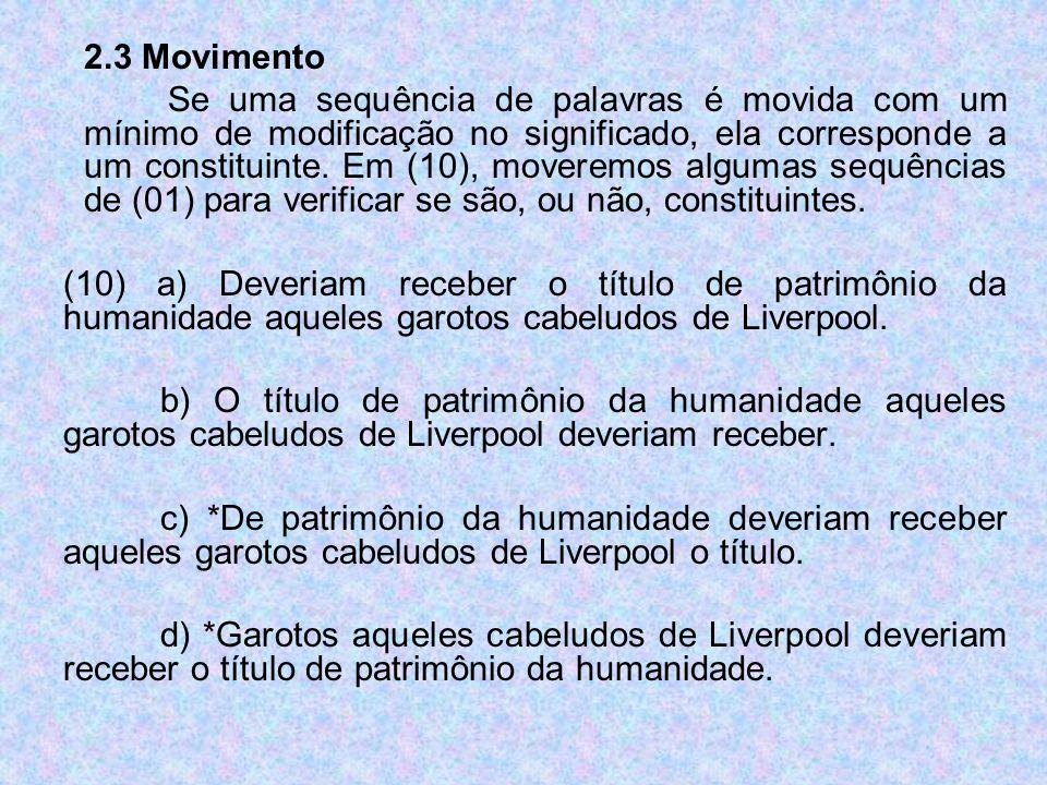 2.3 Movimento
