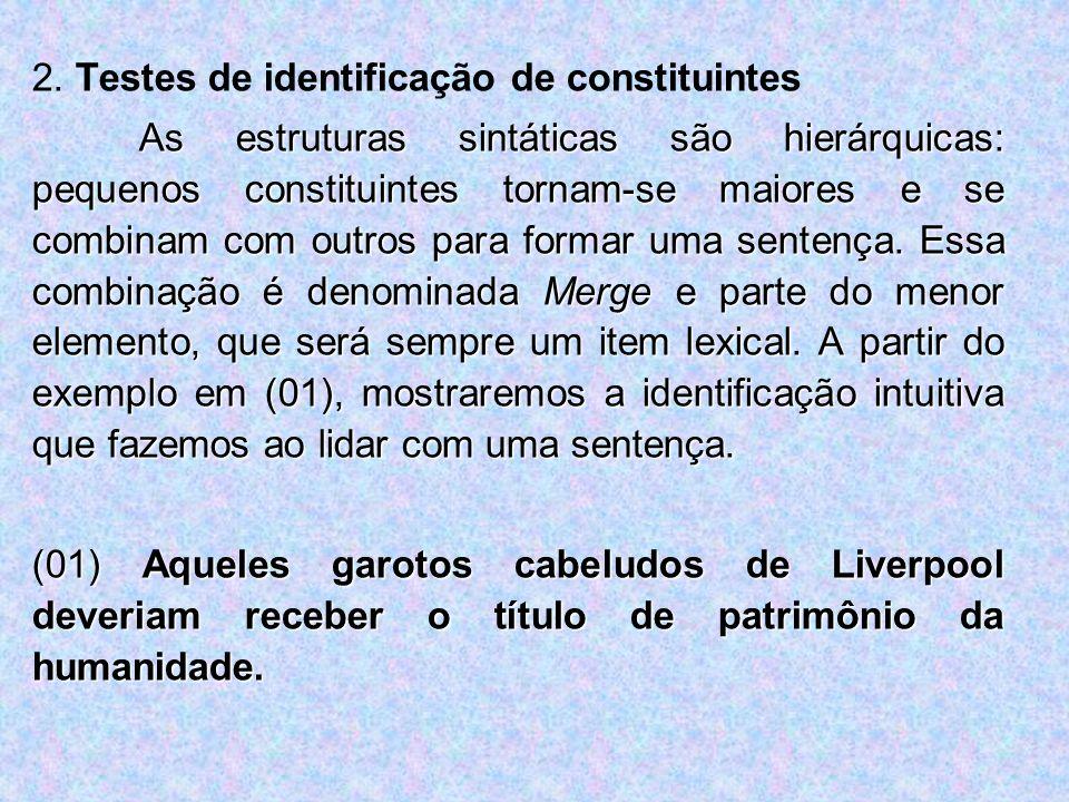 2. Testes de identificação de constituintes
